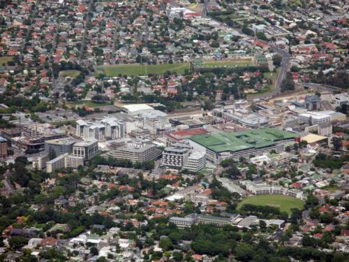 Claremont aerial view